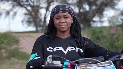 Zimbabwe's 16-year-old motocross champion on 'beating the boys' #world #BBC_News