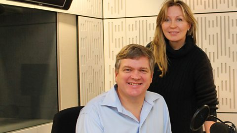 Ray with Desert Island Discs presenter Kirsty Young