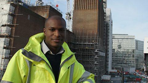 Abdullah at a construction site.