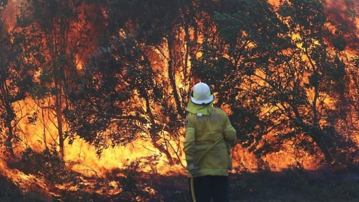 Another bushfire and all over temps rising with climate change