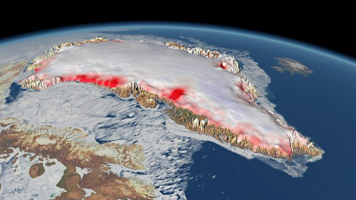 Climate change: Greenland ice melt 'is accelerating' - BBC News