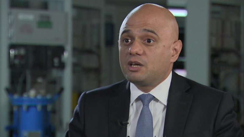 The Chacellor Sajid Javid is not expecting a recession