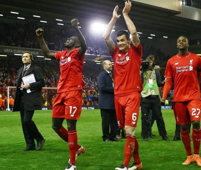 Mamadou Sakho Of Liverpool And Dejan Lovren