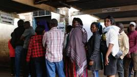 Image result for Polls closed in Kenya's controversial presidential rerun