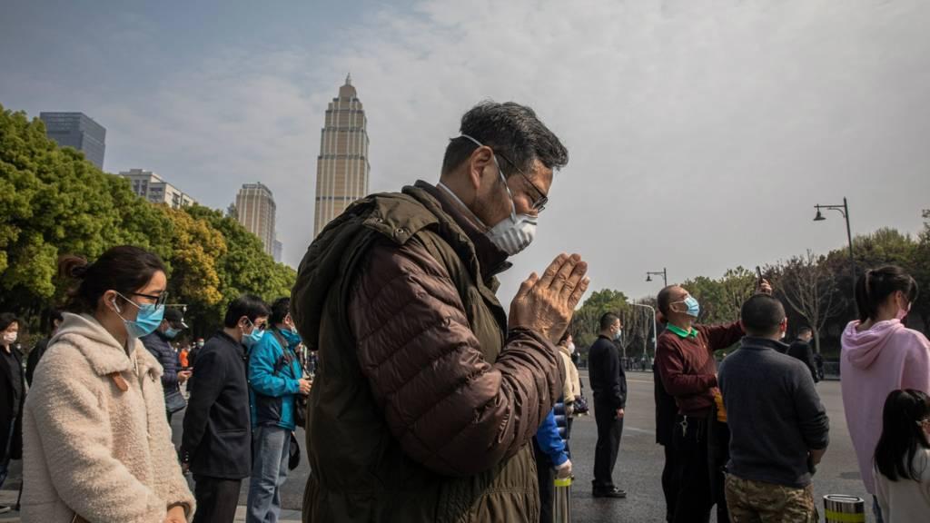 Silence held in Wuhan. 4 April 2020