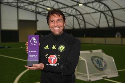 Congratulations to Antonio Conte who has been named October's Barclays Manager of the Month! 👏