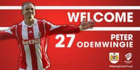 BREAKING: #BristolCity complete the loan signing of Stoke City forward Peter Odemwingie. bcfc.co.uk/news/article/c…