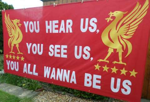 NEW Liverpool FC banner made for @Jack_Binder @LukeWhitby @Craighitchmough Basel bound. @LFC_Banners @LFC_news_feed