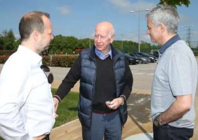 Ed Woodward, Bobby Charlton and Jose Mourinho