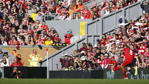 The Anfield crowd watch on