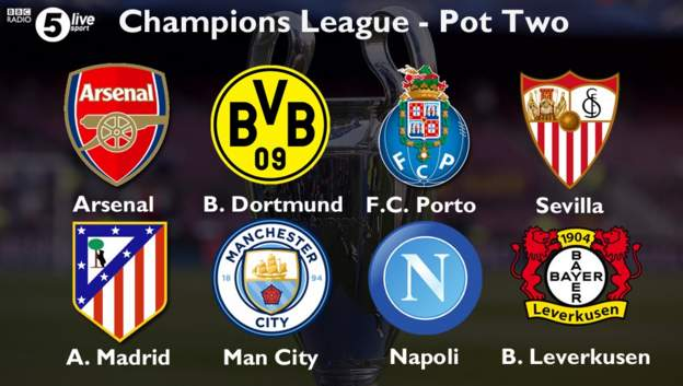 The #UCL draw is at 5pm. These are the seedings. What's your group of death? bbc.in/2bOSuD5