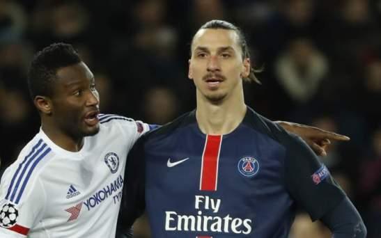 John Obi Mikel and Zlatan Ibrahimovic
