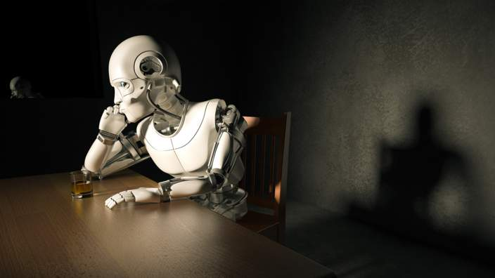 Depressed robot