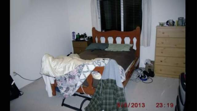 The bedroom where the shootings happened.