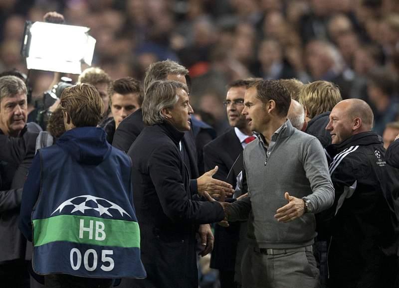 Roberto Mancini and Frank de Boer