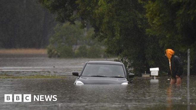 Australia floods: Rainfall set to peak as weather systems collide #world #BBC_News