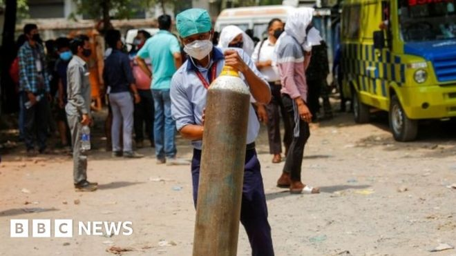 India Covid pandemic: Delhi calls for army help amid crisis #world #BBC_News