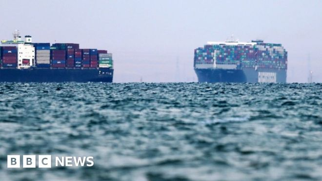 Suez Canal traffic jam caused by stuck ship Ever Given 'cleared' #world #BBC_News