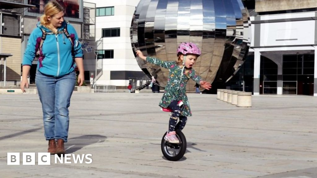 , The four-year-old girl from Bristol who has learned to unicycle, The Evepost BBC News
