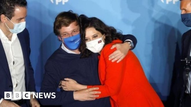 Madrid election: Ayuso re-elected in bitter Spanish vote #world #BBC_News