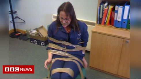 I was tied to a chair and left petrified' - BBC News