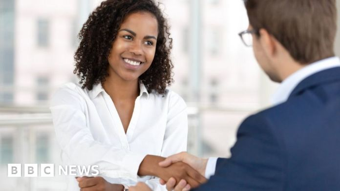 117109699 woman interview