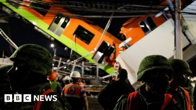 Mexico City metro overpass collapses, killing 15 #world #BBC_News