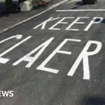 Isle Of Man Motorists Told To Keep Claer In Road Painting Error Bbc News
