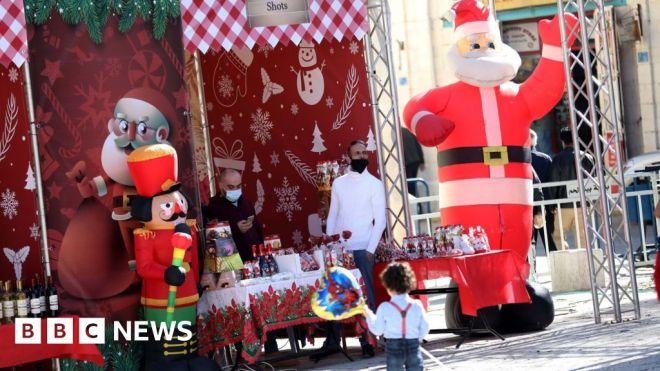 Coronavirus mutes Christmas celebrations in Bethlehem #world #BBC_News
