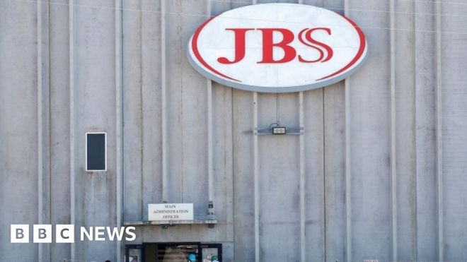 JBS: FBI says Russia-linked group hacked meat supplier #world #BBC_News