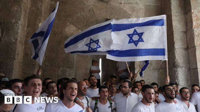 Israel approves flag march through Jerusalem's Old City #world #BBC_News