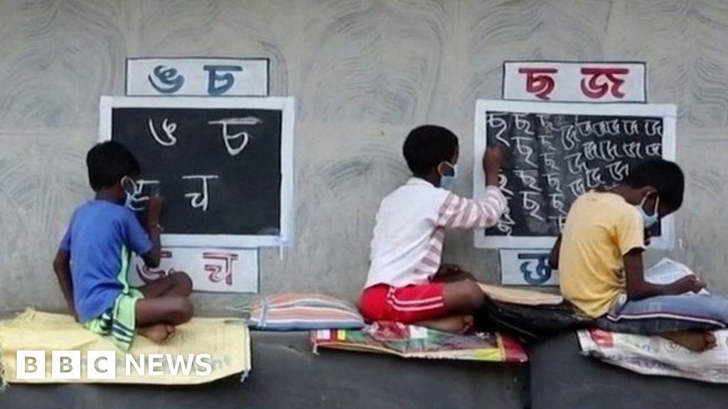 , India Covid-19: Meet the teacher who turned a street into a classroom, The Evepost BBC News