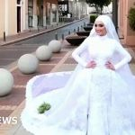 Beirut: The bride being photographed in wedding dress as blast hit