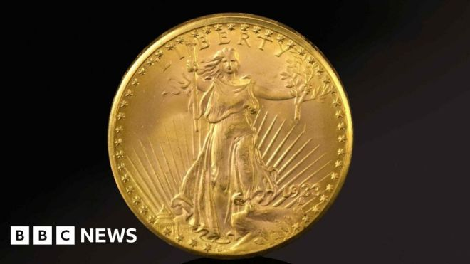 US Double Eagle gold coin sold for record .9m #world #BBC_News