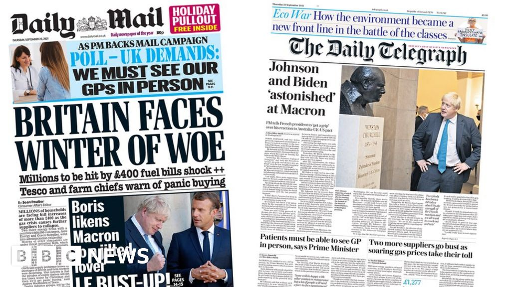 , The Papers: 'Winter of woe' and France rift deepens, The Evepost BBC News