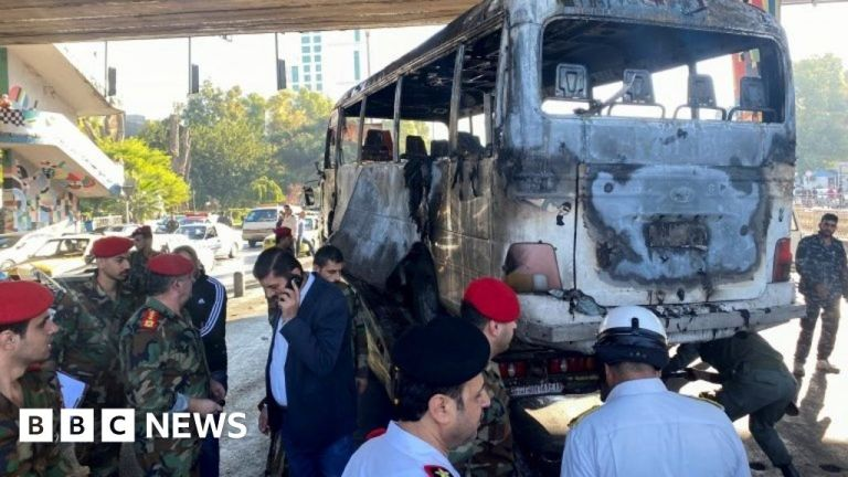 Watch Syria battle: Lethal bomb blasts hit navy bus in Damascus – BBC English News