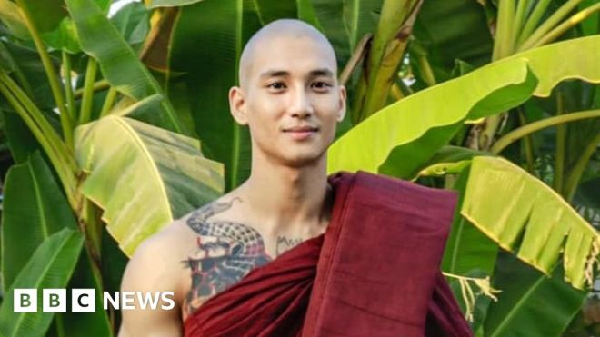 Myanmar: Celebrity model arrested amid coup crackdown #world #BBC_News