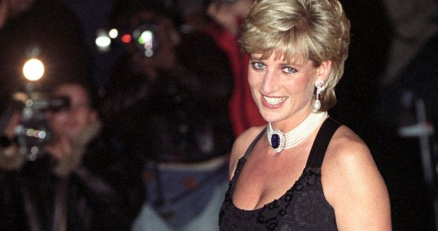 Princess Diana on the evening of 20 November 1995