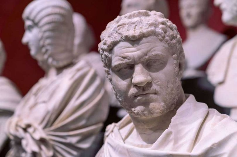 A portrait bust of the emperor Caracalla