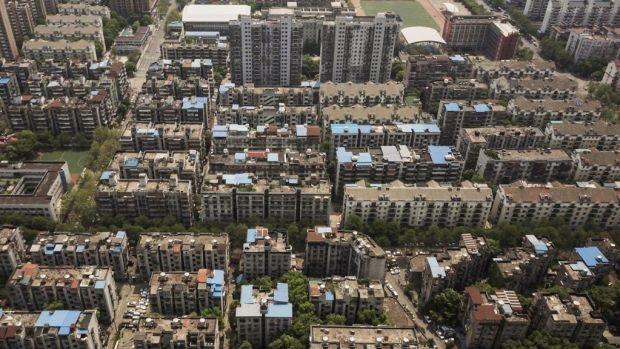 Residential housing blocks, Wuhan, China - April 2020