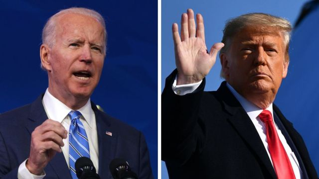 Biden to block Trump's Covid rule change on president's final day in office  - BBC News