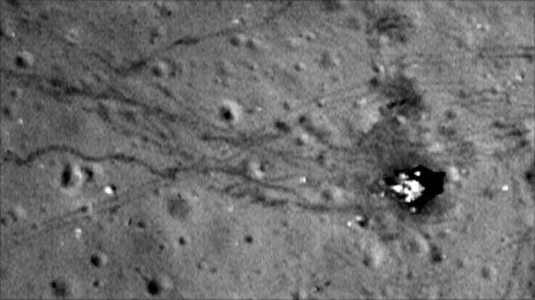 Probe pictures Moon landing sites - BBC News