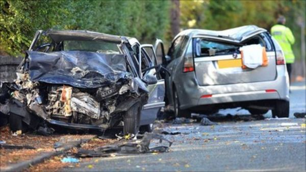 Two men charged after Crumpsall car crash - BBC News