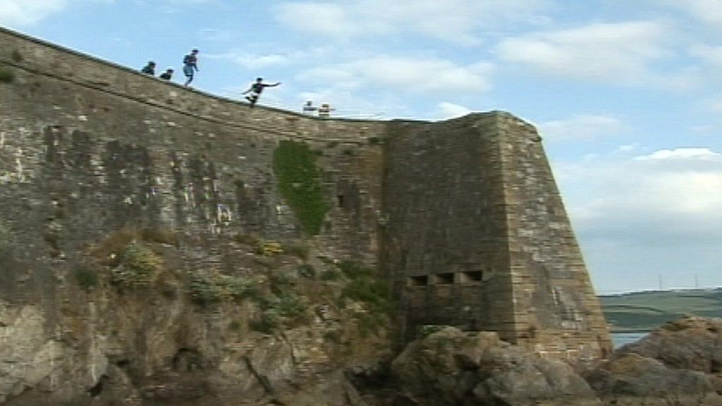 Tombstoning Concerns For Plymouth Businesses BBC News