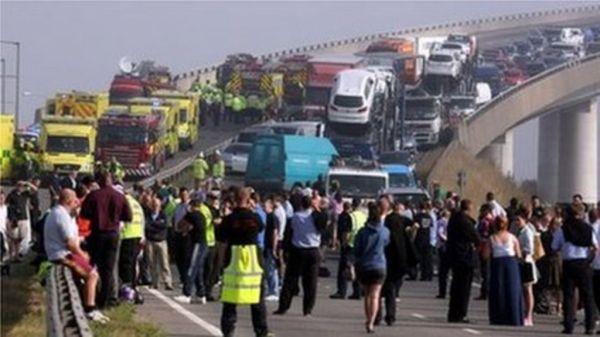 Sheppey crossing crash: Dozens hurt as 130 vehicles crash ...