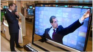 Television screens have doubled in size in last 10 years