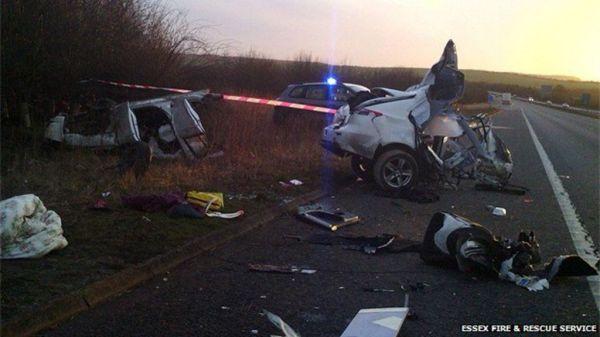 M11 Christmas Eve crash driver has 'incredible escape ...