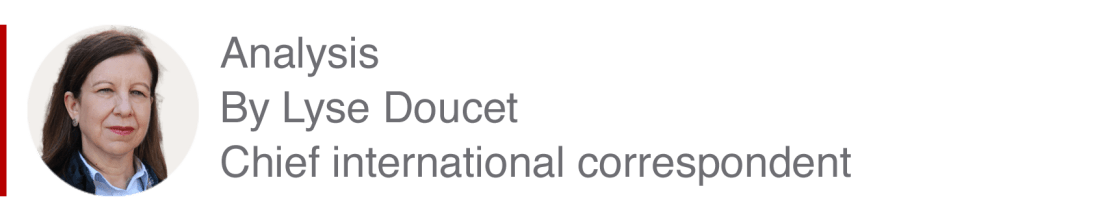 Analysis box by Lyse Doucet, chief international correspondent