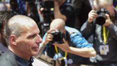 Greek Finance Minister Yanis Varoufakis in Brussels, 27 June 2015