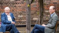 David Attenborough and the Duke of Cambridge